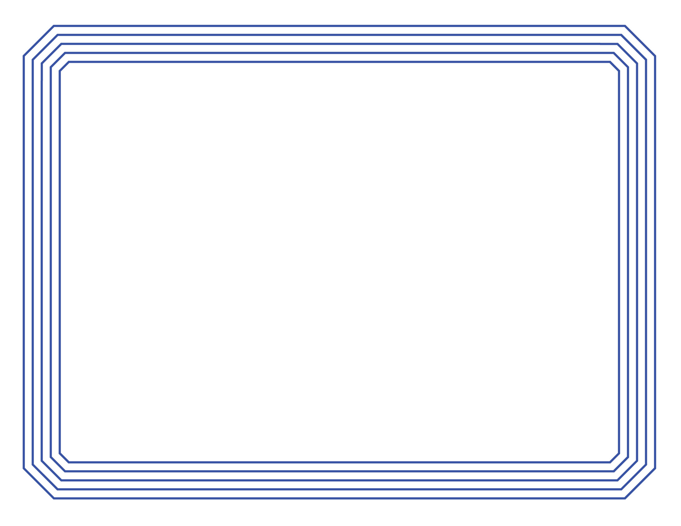 Certificate Border 1 Simple Line Border