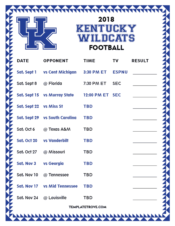 Striking image with kentucky basketball schedule printable