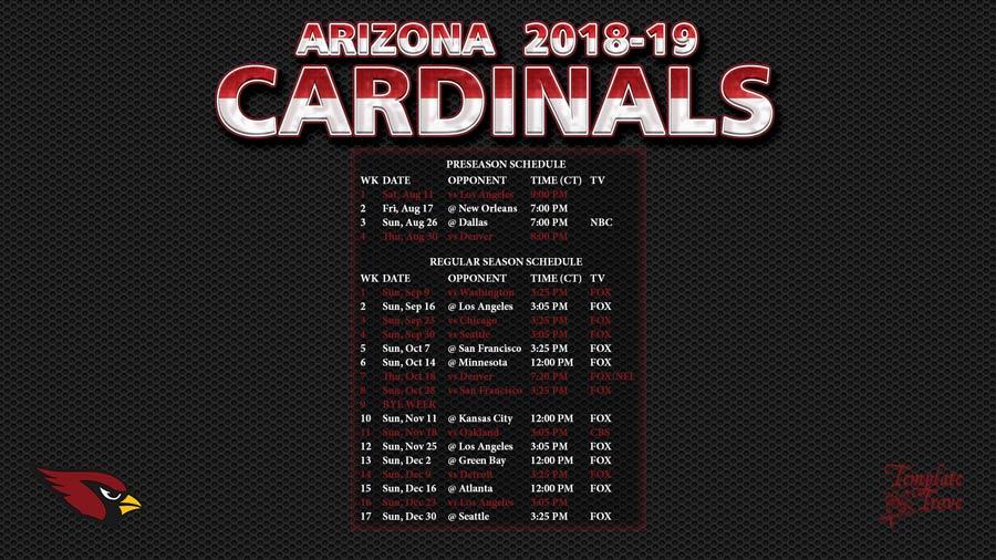 afc1fa27 2018-2019 Arizona Cardinals Wallpaper Schedule