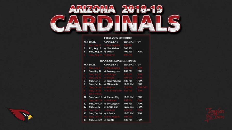 2018-19-Arizona-Cardinals-Wallpaper-Schedule-1920-x-1080-2-CT-900 Team Newsletter Template on classroom weekly, one page, free printable monthly, microsoft publisher, christmas family,