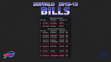 Buffalo Bills 2018-19 Wallpaper Schedule