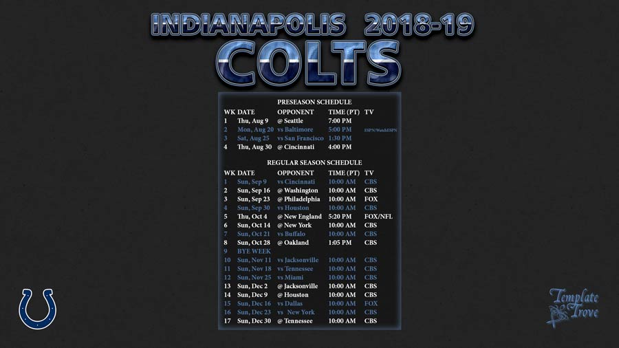 Dynamite image regarding colts schedule printable