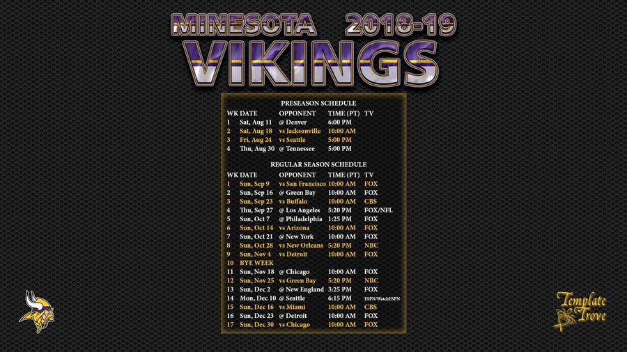 2018-19-Minnesota-Vikings-Wallpaper-Schedule-1920-x-1080-1-PT-900 Team Newsletter Template on microsoft word, free printable monthly, free office, fun company, classroom weekly,