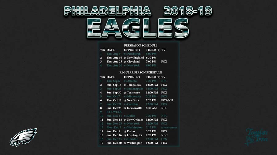 Ambitious image inside printable eagles schedule