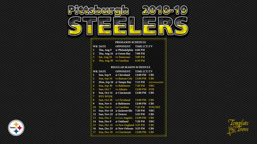 Astounding image inside pittsburgh steelers printable schedule