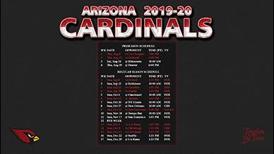 2019-2020 Arizona Cardinals Wallpaper Schedule