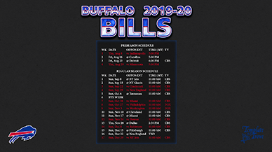 Buffalo Bills 2019-20 Wallpaper Schedule