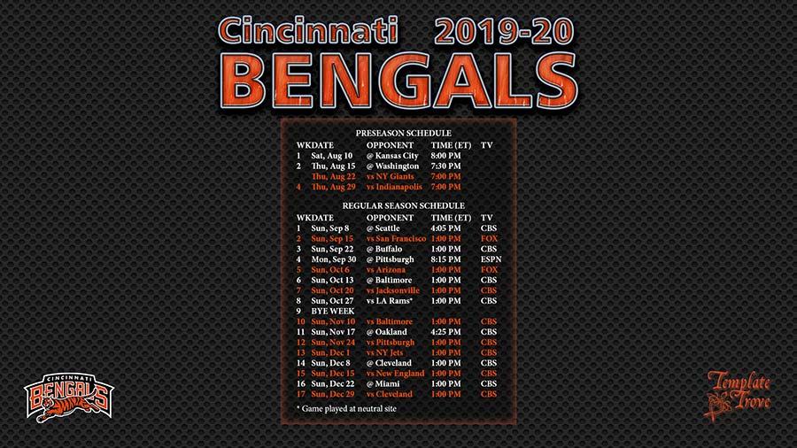 2019-2020 Cincinnati Bengals Wallpaper
