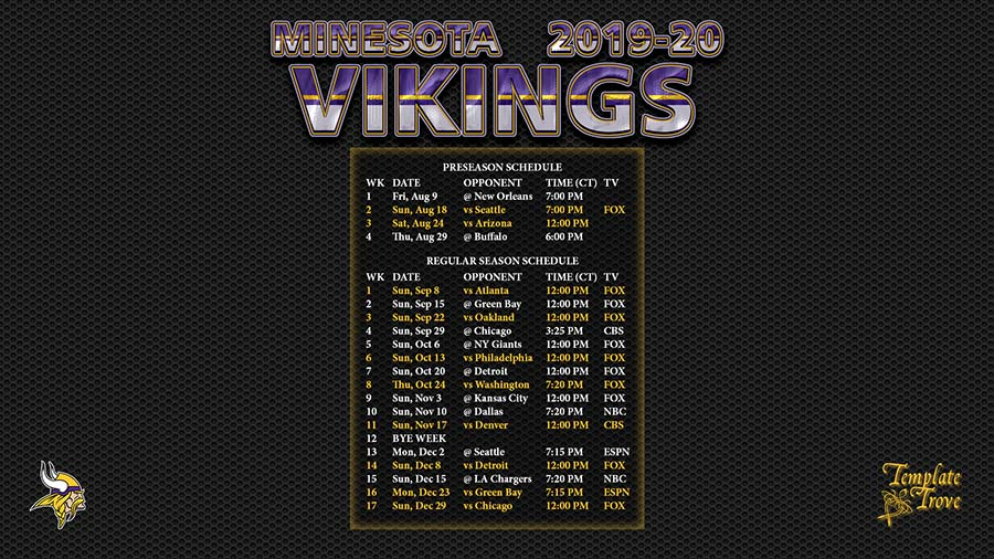 2019-20-Minnesota-Vikings-Wallpaper-Schedule-1920-x-1080-1-CT-900 Team Business Newsletter Template on business website headers, business themes, ecommerce templates, fitness newsletters templates, business reply mail template, business mailing lists, email marketing templates, appreciation flyer templates, business flyers,