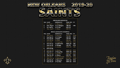 New Orleans Saints 2019-20 Wallpaper Schedule