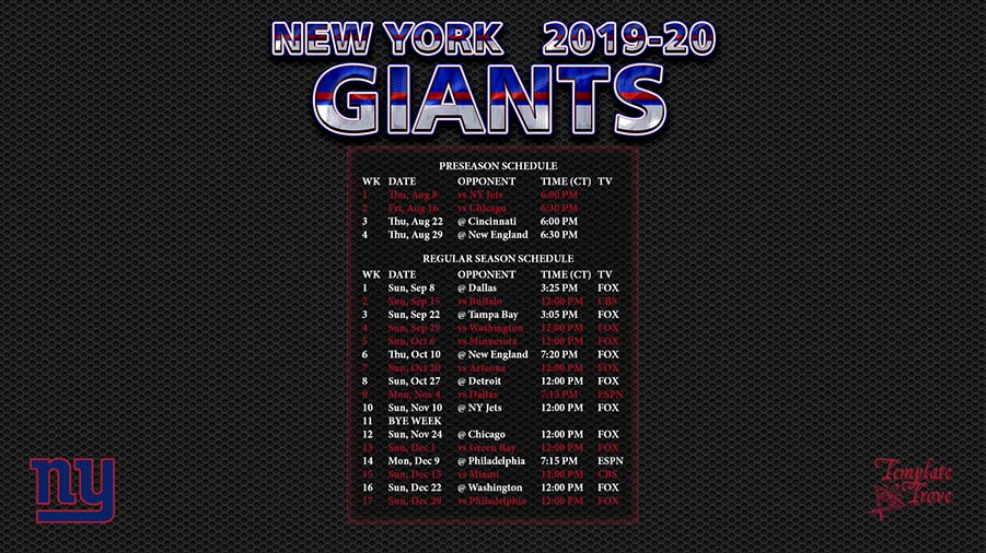 2019-20-New-York-Giants-Wallpaper-Schedule-1920-x-1080-1-CT-900 Team Newsletter Template on classroom weekly, one page, free printable monthly, microsoft publisher, christmas family,