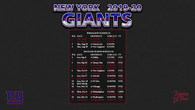 Remarkable image intended for new york giants printable schedule