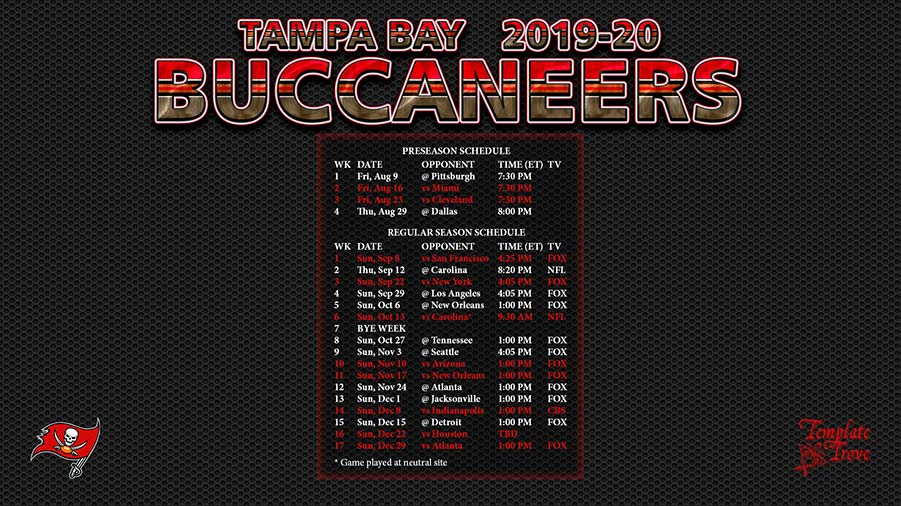 2019 2020 tampa bay buccaneers wallpaper schedule 2019 2020 tampa bay buccaneers