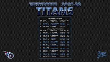 Tennessee Titans 2019-20 Wallpaper Schedule