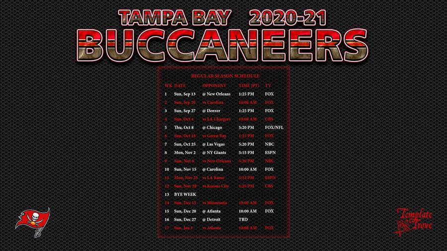 2020 2021 tampa bay buccaneers wallpaper schedule 2020 2021 tampa bay buccaneers