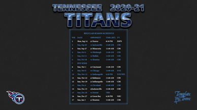 Tennessee Titans 2020-21 Wallpaper Schedule