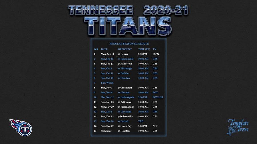 Tennessee Titans Aufstellung