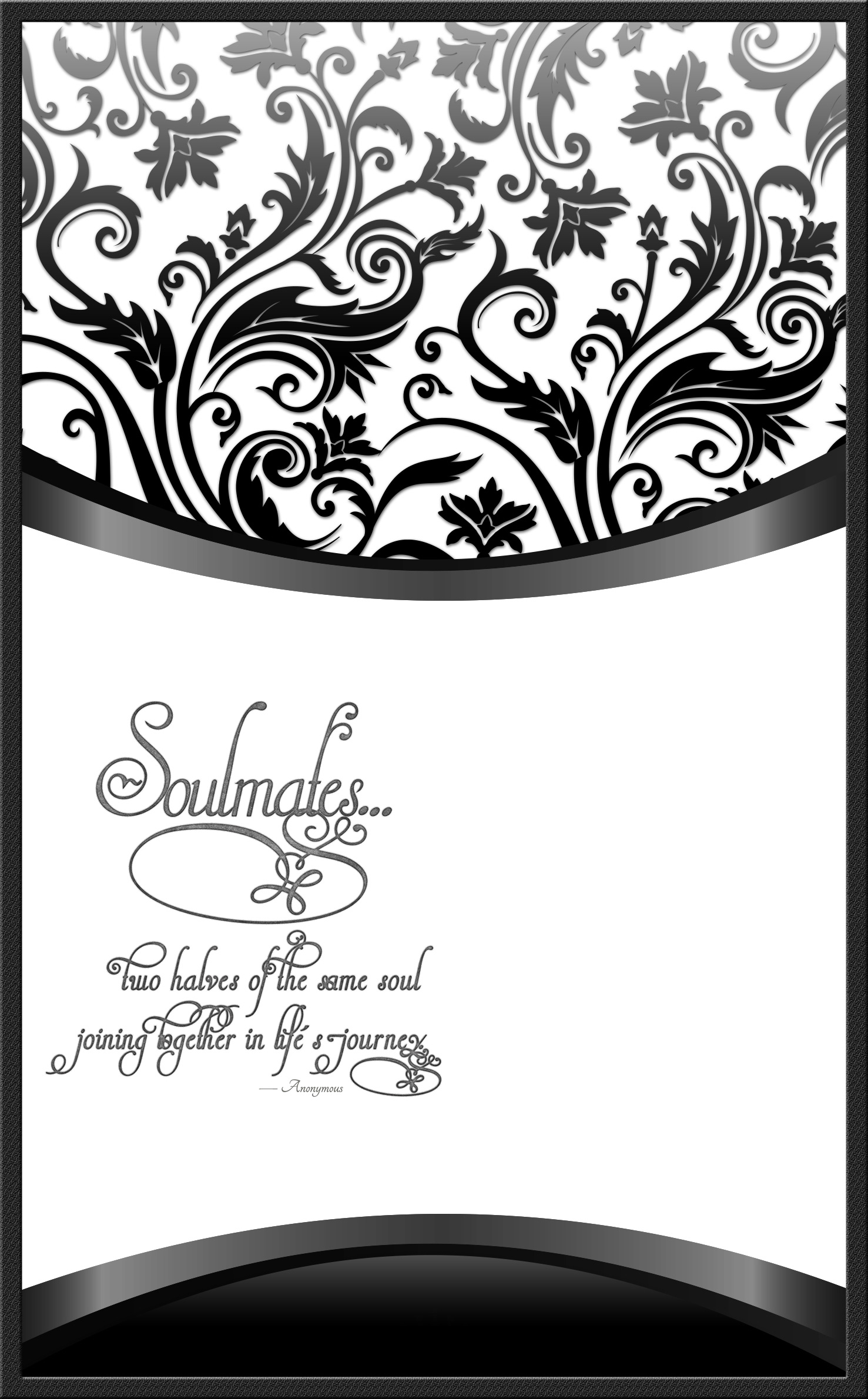 wedding program cover template 10