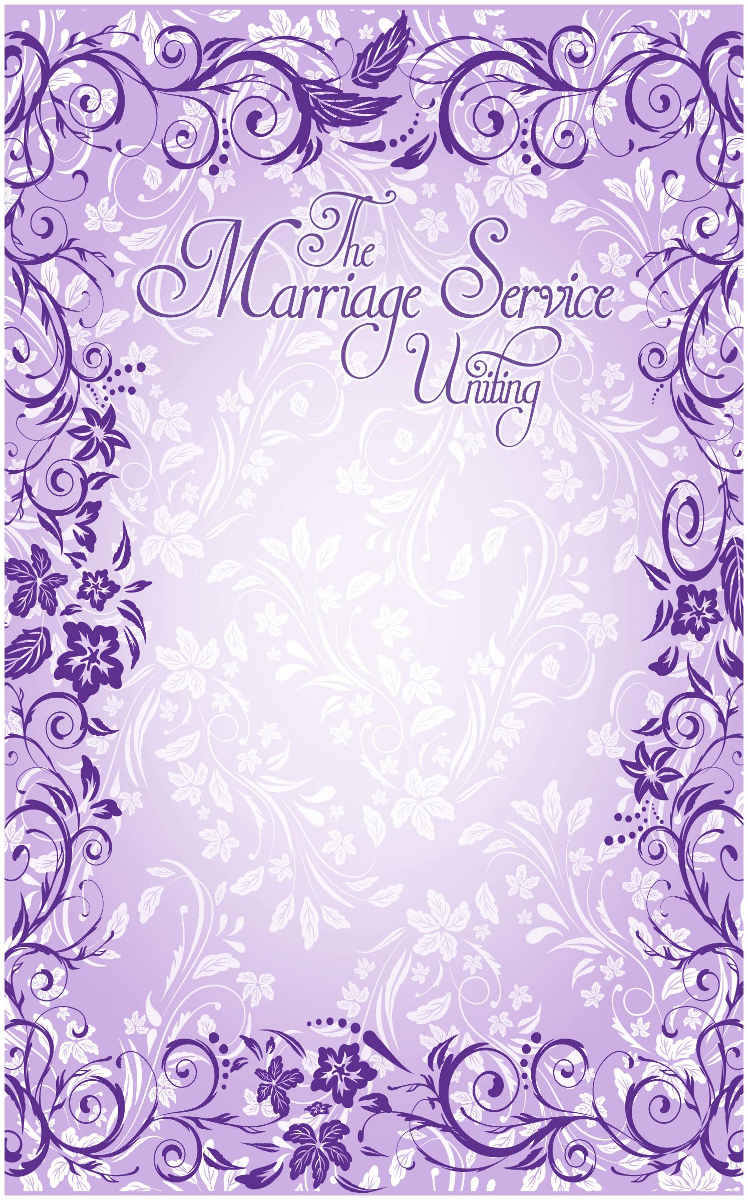 wedding program cover template 11b