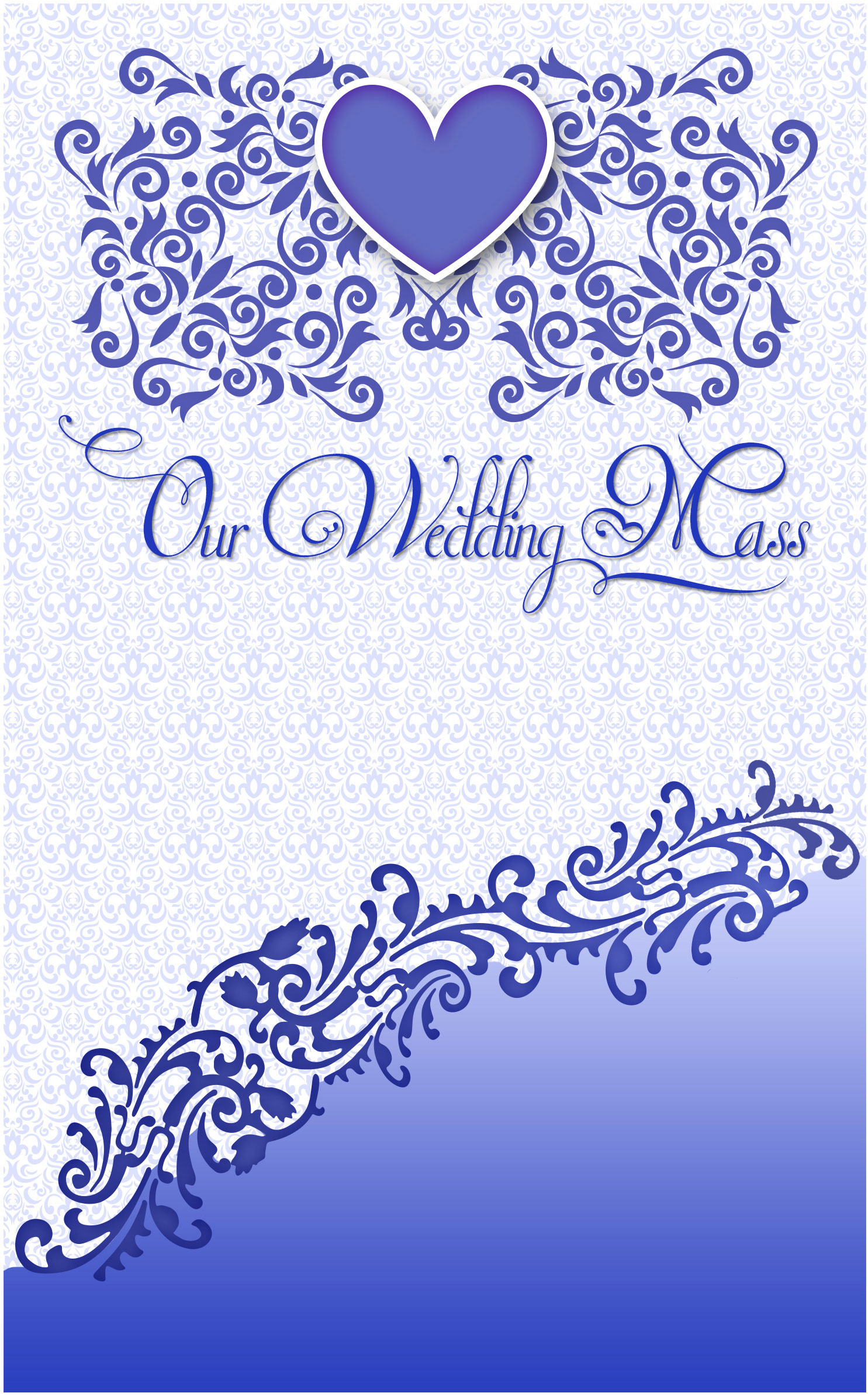 wedding program cover template 12c