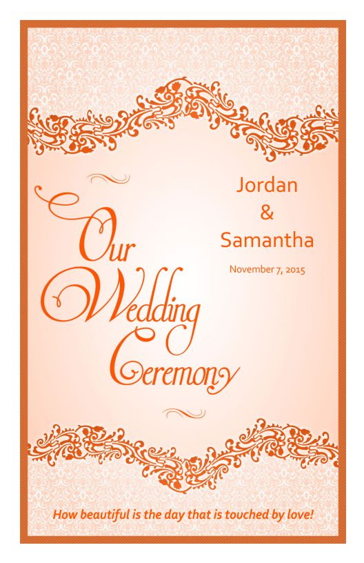 Wedding Program Cover Template C - Wedding program cover templates
