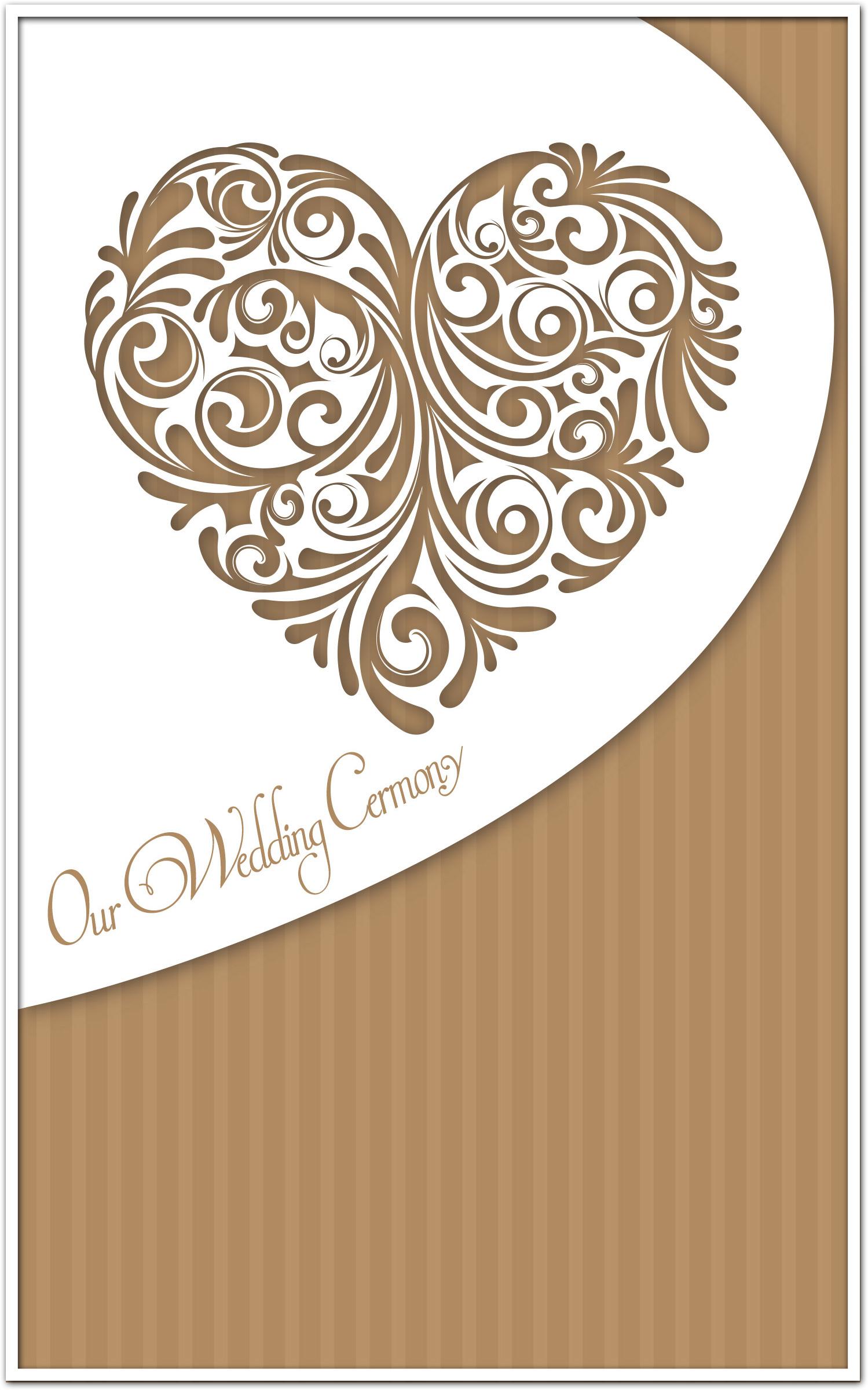 wedding program cover template 6b