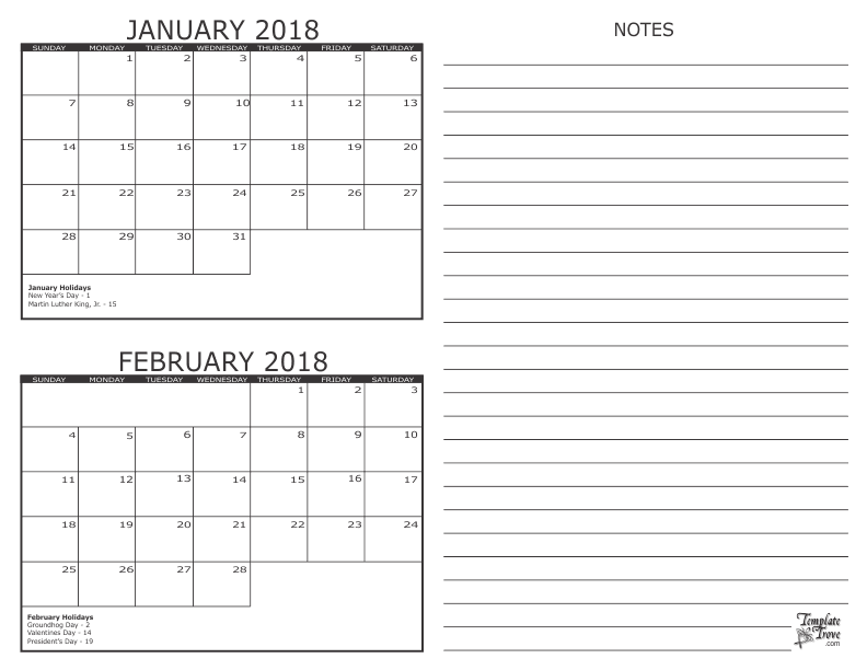 photo about Printable 2 Month Calendar known as 2 Thirty day period Calendar - 2018