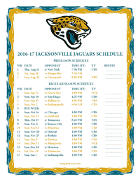 2016 2017 printable jacksonville jaguars schedule png. Cars Review. Best American Auto & Cars Review