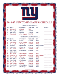 Lively image intended for ny giants printable schedule