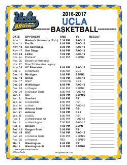 2016 2017 College Basketball Schedules 2