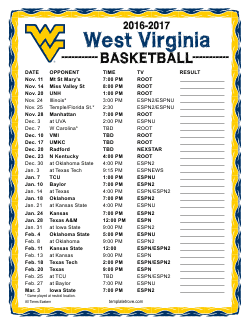 2016 2017 college basketball schedules 2 2016 2017 west virginia mountaineers basketball schedule saigontimesfo