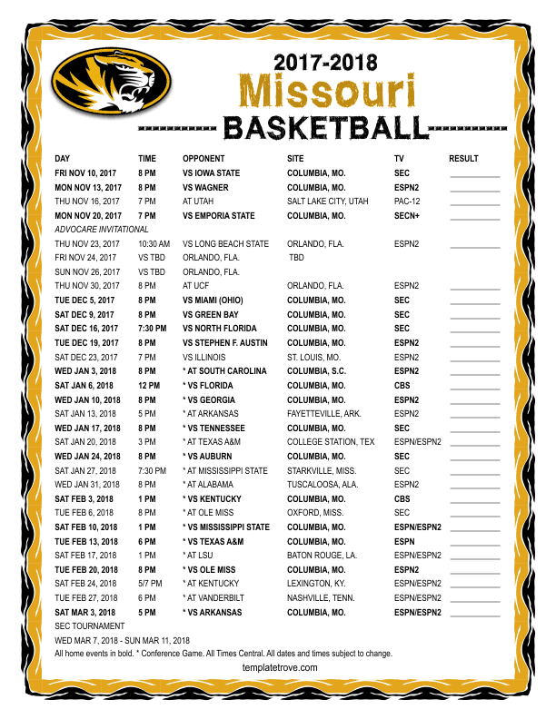 2017-2018-Missouri-Basketball-Schedule-612 Free Basketball Newsletter Template on free preschool newsletter template, free monkey newsletter template, free church youth group newsletter template, free newspaper newsletter template,