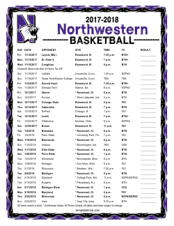 2017-2018 Northwestern Wildcats Basketball Schedule
