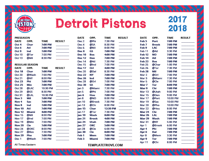 Geeky image pertaining to detroit pistons printable schedule