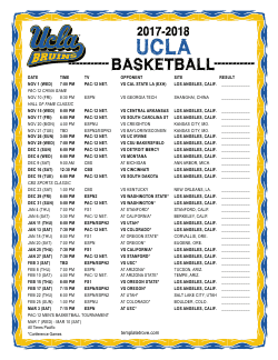 2017-2018 UCLA Bruins Basketball Schedule