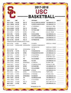 2017-2018 USC Trojans Basketball Schedule