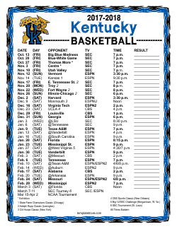 2017-18 College Basketball Schedules
