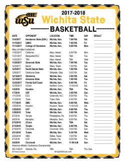 2017-2018 Wichita State Shockers Basketball Schedule