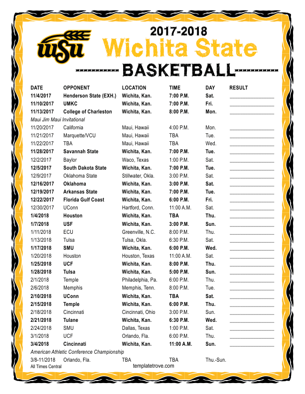 Printable 2017 2018 wichita state shockers basketball schedule printable 2017 18 wichita state shockers basketball schedule saigontimesfo