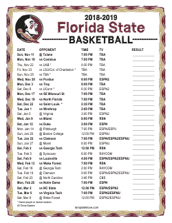 2018-2019 Florida State Seminoles Basketball Schedule