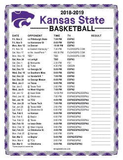 2018-2019 Kansas State Wildcats Basketball Schedule