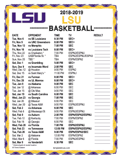 2018-2019 LSU Tigers Basketball Schedule