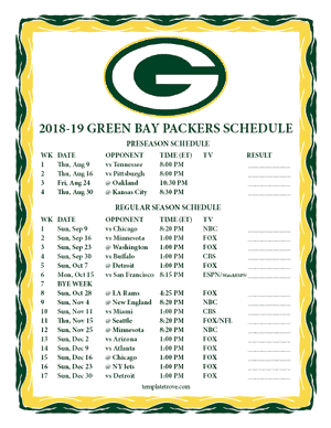 Nifty image with regard to printable packer schedule