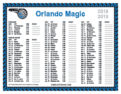 2018-2019-Printable-Orlando-Magic-Schedule-Mountain-Times-TN Free Printable Template For Pre Newsletter on word family newsletter templates, free printable newsletter layouts, free downloadable newsletter templates, free editable newsletter templates,