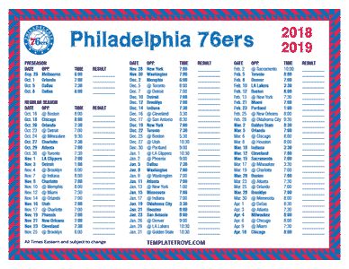 2018-2019-Printable-Philadelphia-76ers-Schedule-TN Team Business Newsletter Template on business website headers, business themes, ecommerce templates, fitness newsletters templates, business reply mail template, business mailing lists, email marketing templates, appreciation flyer templates, business flyers,