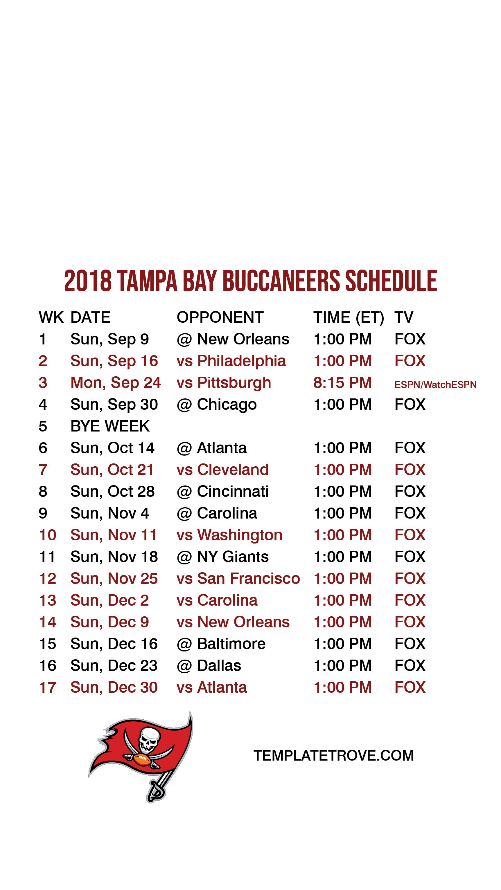 2018 2019 tampa bay buccaneers lock screen schedule for iphone 6 7 8 plus 2018 2019 tampa bay buccaneers lock