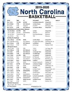 Dynamite image regarding unc basketball schedule printable