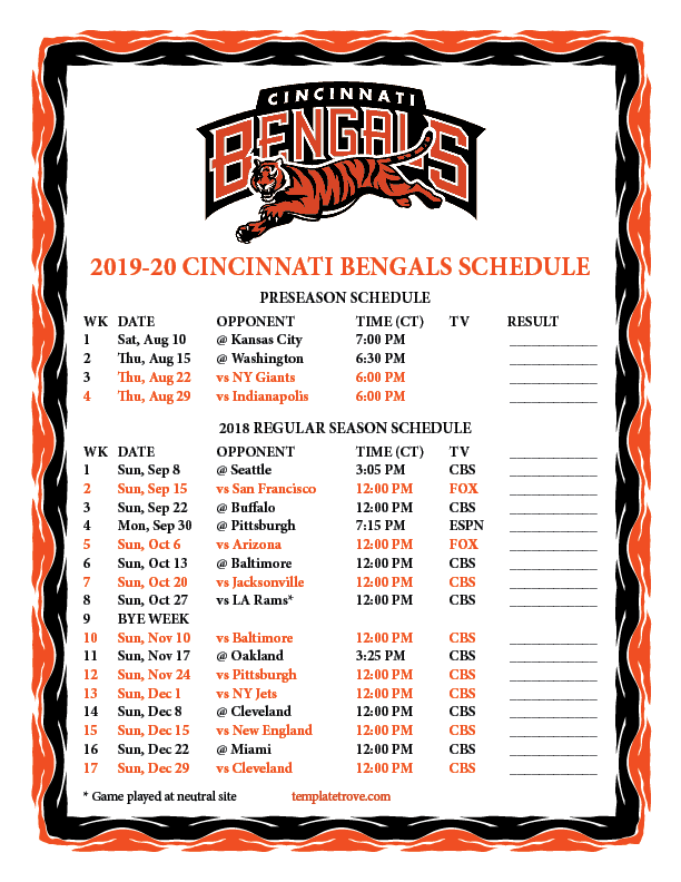 It is a photo of Modest Printable Team Schedules Nfl 2020