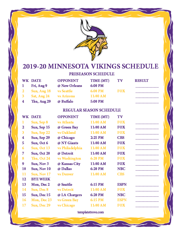 This is a picture of Luscious 2020 Printable Nfl Schedule