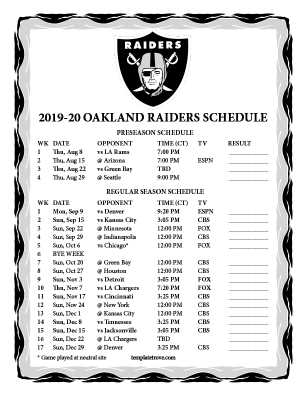 This is a graphic of Canny 2020 Printable Nfl Schedule
